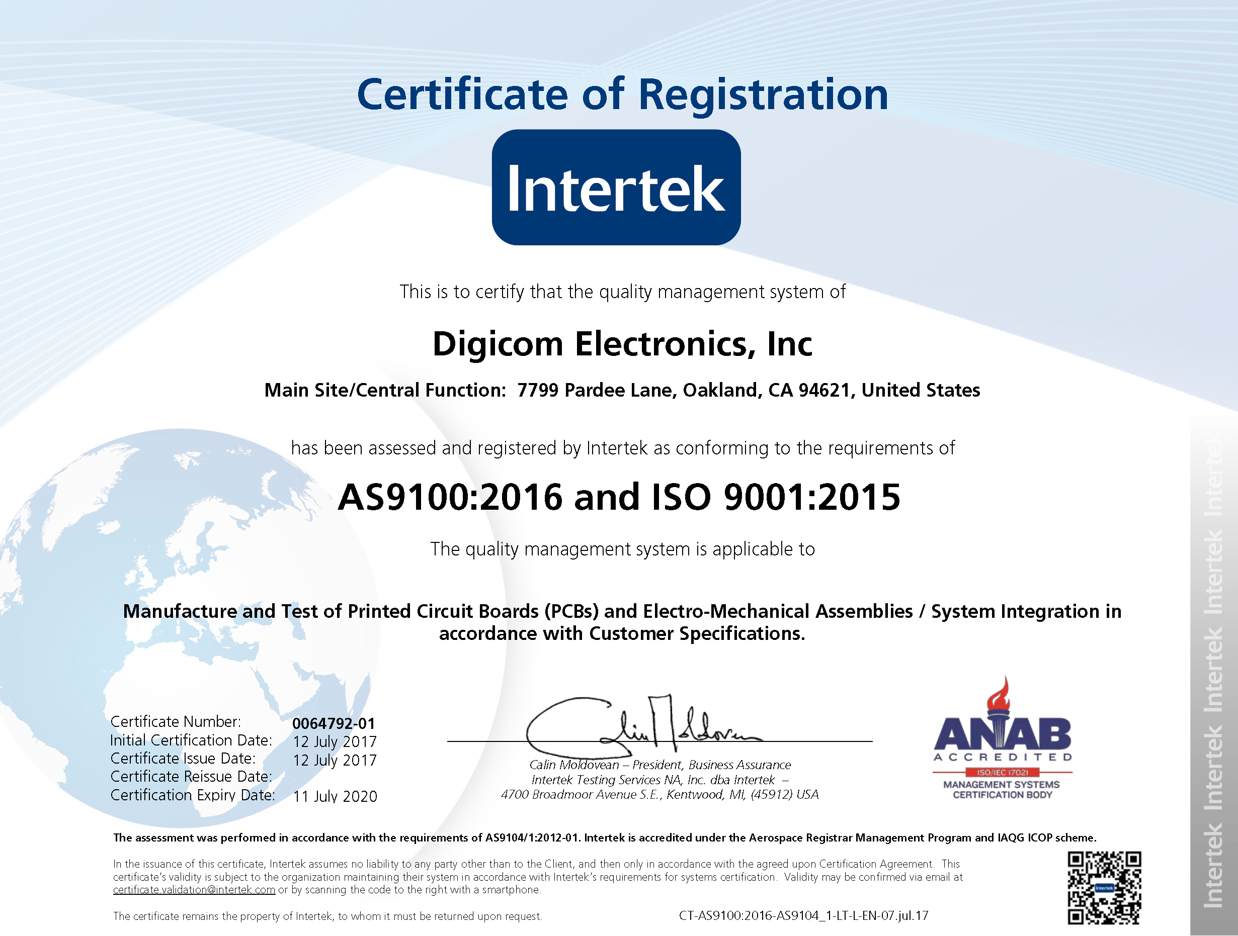 As9100 2016 Revd Aerospace And Iso9001 2015 Certifcations